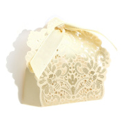 cici store 50Pcs Lace Flower Candy Boxes Wedding Favour Party Sweet Cake Gifts