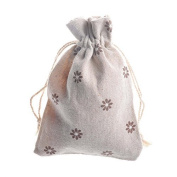 20 PCS Chic Cotton Burlap Drawstring Pouches Gift Bags Wedding Party Favour Jewellery Bags 8.9cm x 12cm