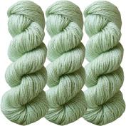 Living Dreams FLAX BOTANICA DK YARN. Elegant Merino Linen Silk for Knitting and Crochet. Cruelty Free, Responsibly Sourced, Pacific Northwest Handmade. Bulk Discount Pack, Pistachio