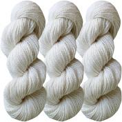 Living Dreams FLAX BOTANICA DK YARN. Elegant Merino Linen Silk for Knitting and Crochet. Cruelty Free, Responsibly Sourced, Pacific Northwest Handmade. Bulk Discount Pack, Pearl