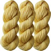 Living Dreams FLAX BOTANICA DK YARN. Elegant Merino Linen Silk for Knitting and Crochet. Cruelty Free, Responsibly Sourced, Pacific Northwest Handmade. Bulk Discount Pack, Maize