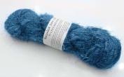 100g Recycled Sari Silk Yarn Hand-spun Blue Soft Yarns