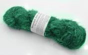 100g Recycled Sari Silk Yarn Hand-spun Green Soft Yarns