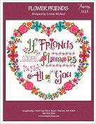 Flower Friends Cross Stitch Chart and Free Embellishment