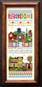 Families Are Like Quilts Cross Stitch Chart and Free Embellishment