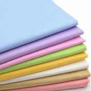 iNee Candy Solids Fat Quarters Fabric Bundles, Quilting Fabric for Sewing Crafting, 46cm x 60cm ,