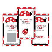 Set of 12 Scratch Off Game Cards for Baby Shower Games with Red Ladybug SC122
