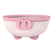 KIDSMILE Multi-Purpose Baby Plastic Wash Basin, Thickened Anti-Skid High Capacity Cartoon Baby Washing Basin, Lovely Piggy, Pink