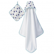 aden + anais hooded towel set, high seas
