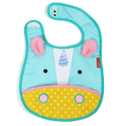 Skip Hop Zoo Little Kid and Toddler Tuck-Away Water Resistant Baby Bib, Multi Eureka Unicorn