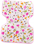 Little Unicorn Cotton Muslin Burp Cloth - Berry & Bloom, Purple, Pink, Yellow