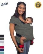 Slate Grey Baby Sling Carrier Wrap by Cozitot | Soft & Stretchy Baby Carrier | Baby Wrap Sling | Small to Plus Size Baby Sling | Nursing Cover | Best Baby Shower Gif