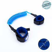 Anti Lost Wrist Link Baby Toddler Kid | Child Safety Strap Hook and loop | Wristband Leash/Harness | Blue - Green - Red | Cotton Wrist Straps | Coated Metal Spring Wire | 1.8 metres