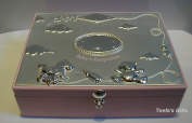 Silver Plated Baby Girls Large Keepsakes Box in Pink by Shudehill Giftware