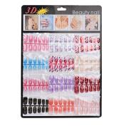 DDLBiz 144pcs Mixed Set Nail Tips Artificial Fake Nails Art Acrylic Manicure Gel