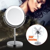 Makeup Cosmetic Shaving Led Illuminated Magnifying Stand Light Mirror Sale Now