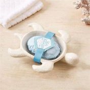 Sea Seeker Ceramic Turtle Soap Dish With Clearwater Scented Soap