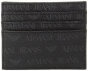 Armani Jeans Men's Logo Card Holder Black
