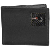 NFL New England Patriots Gridiron Leather Bi-Fold Wallet