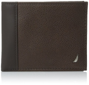 Nautica Men's Milled Passcase Wallet,Brown,One Size