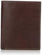 Luxury Divas Brown Buxton Leather Men'S Credit Card Folio Wallet