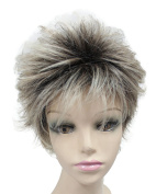 Short Ladies Wigs Natural Looking Synthetic Hair Full Wigs for Cancer Patients