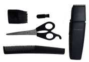 Beard Stubble Sideburns Moustache Trimmer - 5 Piece Kit For Men Includes Clipper, Trimmer Attachment, Comb, Scissors, Brush - Portable Complete Grooming Cutting Hair Trimming Kit by Perfect Life Ideas