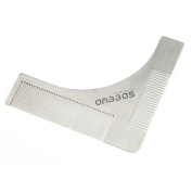 Anbbas Stainless Steel Beard Shaping Tool Styling Template Ruler Shaper Guide Comb