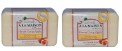 A La Maison de Provence Honey Crisp Apple Soap (Pack of 2) With Shea Butter, Argan Oil and Coconut Oil, 260ml Each