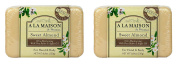 A La Maison de Provence Sweet Almond Hand and Body Soap (Pack of 2) With Shea Butter and Argan Oil, 260ml Each
