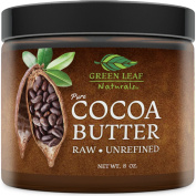Cocoa Butter - Raw Unrefined Organic - 100% Pure for Hair and Skin - All Natural for DIY Recipes
