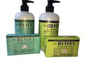 Mrs. Meyer's Basil and Lemon Verbana Hand Lotion and Soap bundle