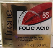 LIRENE DERMO programme, FOLIC ACID AGE 50+ DAY CREAM FOR THE FACE AND NECK WITH FOLIC ACID + SHEA BUTTER 50ml