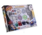 Beyblade Fight Master Toy Top Spinning Metal Fusion 4d Power Launcher Grip Set