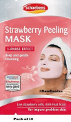 Schaebens Strawberry Peeling Mask - Pack of 10