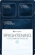 Brightening 3-Step Charcoal Facial Set, Bulk Case of 48 units