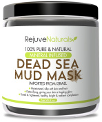Dead Sea Mud Mask with Minerals, 240ml ~ Use as a Deep Cleansing, Exfoliating Detox Skin Mask / Mud Pack for Face & Body ~ Also Works as a Hair Moisturiser ~ All Natural, Free of GMOs & Parabens