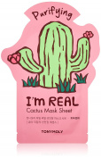 TONYMOLY I'm Real Cactus Purifying Mask Sheet, 21 g.
