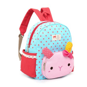 Samber Baby Girl Wave Point Pattern Backpacks Cute Animal Cartoon Schoolbag