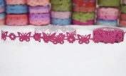 Polyester Fabric Adhesive Laser Cut Design Ribbons ,5 m