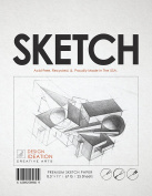 Premium Sketch Paper for Pencil, Ink, Marker, Charcoal and Watercolour Paints. Great for Art, Design and Education. Loose Pack. (25 Sheets