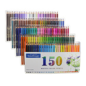 Set of 150 Watercolour Pencils with Carrying Case for Colouring Sketching Painting
