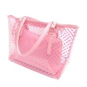 Neevas Clear Plastic Transparent Work Tote Shoulder Jelly Beach All Purpose Handbag Girl