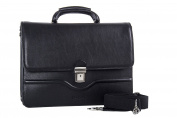 Folder PIERRE CARDIN bag office professional black in leather Made in Italy VH28