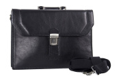 Folder PIERRE CARDIN bag office professional black in leather Made in Italy VH29