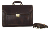 Folder PIERRE CARDIN bag office professional brown in leather Made in Italy VH2