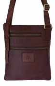 Rowallan Brown Leather Shoulder Bag
