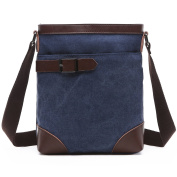 BAOSHA MS-07 Vintage Small Canvas Messenger Shoulder iPad Bags Cross Body Everyday Satchel Bag For Men & Women