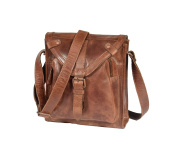 Mens Shoulder Bag Genuine TAN Leather Vintage Distressed Messenger Flight Bag - A511