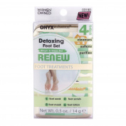 Onyx Professional Ginger & Green Tea Detoxing Foot Set – Kit Includes Foot Soak, Foot Mask, Foot Scrub, Foot Lotion